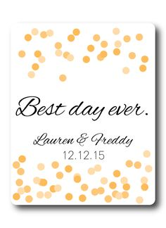 Custom Wine Label | Confetti | Personalized Weddiing Wine Labels – Stick 'em up! Labels awesome wedding wine labels!!
