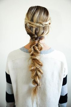 Messy braids were a huge hit on the Spring/Summer 2015 runways, and the style translates perfectly to homecoming hair. #Homecoming #BarefootBlonde