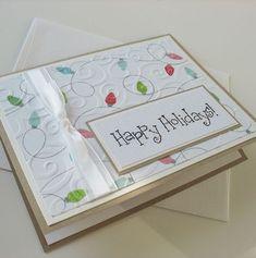 Christmas Card  Handmade Blank Note Card  Happy by Sentimentalist, | http://cutegreetingcards.blogspot.com
