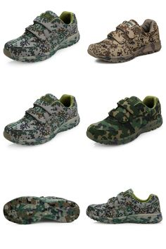 [Visit to Buy] Jungle Desert Field Soldier Outdoor Buckles Forest Camouflage Digital Running Shoes Military Training Sneakers Sport Shoes Men #Advertisement