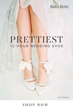 Bella Belle wedding shoes is known for stylish and pretty bridal shoes with 12-hour comfort level. You can wear these wedding heels from getting ready in the morning to dancing all night