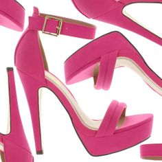 Zapatos de tacon alto y plataforma en color fuchsia