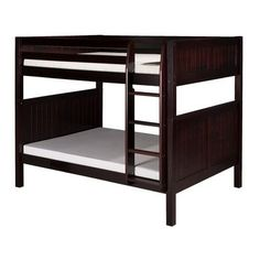 Camaflexi Full over Full Bunk Bed Finish: Cappuccino