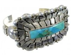 Southwest Turquoise Silver Cuff Bracelet YX77739