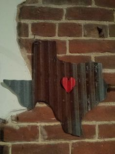 LOVE YOUR STATE Barn Tin with Heart!  Junk Rusty wall decor home country by whattawaist on Etsy https://www.etsy.com/listing/238660313/love-your-state-barn-tin-with-heart-junk