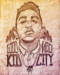 Kendrick Lamar design by Mark aka MAS on CreativeAllies.com
