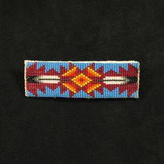 native american beaded hair barrette | Native American hair barrette