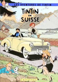 Tintin en Suiza - Peugeot 203 Cabriolet 1950