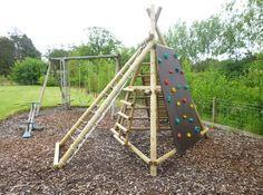 Wooden Garden swing sets slides goals picnic tables for kids Kids Backyard Playground, Backyard Gym, Natural Playground, Backyard For Kids, Playground Ideas, Kids Outdoor Play, Outdoor Play Areas, Outdoor Fun, Indoor Play