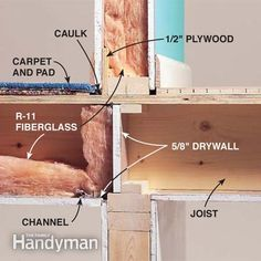 How to Soundproof a Room Add insulation, acoustical caulk and an extra layer of drywall Off Grid, Home Studio, Soundproofing Walls, Soundproofing Material, Forced Air Heating, Audio Room, Home Repairs, Sound Proofing, Basement Remodeling