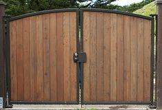 driveway gates wood and metal design - Bing images