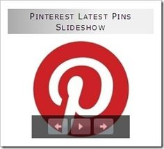 How To display Pinterest Latest Pins In A Slideshow www.BloggerSentral.com