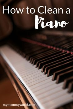 The piano is a tangible musical instrument. If you have the heart of a musician, you have to learn to play piano. You can learn to play piano through software and that's just what many busy individuals do nowadays. The piano can b Deep Cleaning, Spring Cleaning, Cleaning Hacks, Cleaning Recipes, Organizing Tips, Cleaning Solutions, Painted Pianos, Old Pianos, Piano Teaching