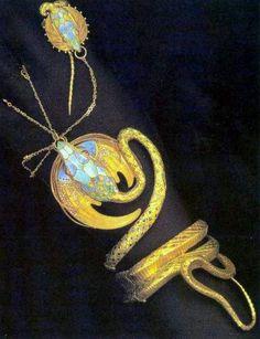 Alphonse Mucha, my all time favorite artist! Fouquet, bracelet, Daprès un modèle dAlphonse Mucha