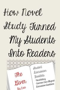 The Giver and How Novel Study Turned My Students Into Readers - Performing in Education