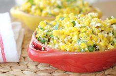 -Style Corn: fresh corn, cotija cheese, green onion, cilantro, butter ...