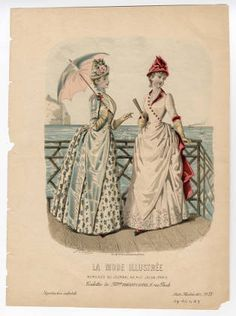 Plate 028 - Costume Institute Fashion Plates - Digital Collections from The Metropolitan Museum of Art Libraries Victorian Women, Victorian Era, Victorian Fashion, Vintage Fashion, Historical Costume, Historical Clothing, Jean Délavé, 1870s Fashion, 19th Century Fashion