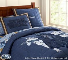 Star Wars™ Darth Vader™ and Stormtrooper™ Quilted Bedding #PotteryBarnKids