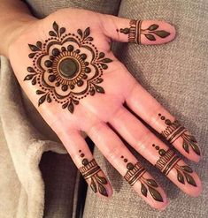 Latest 50 Eid Mehndi Designs for 2020 - Mehendi Designs - Henna Designs Hand Henna Tattoo Designs Simple, Finger Henna Designs, Indian Mehndi Designs, Eid Mehndi Designs, Mehndi Designs For Beginners, Mehndi Designs For Girls, Mehndi Designs For Fingers, Latest Mehndi Designs, Henna Palm Designs