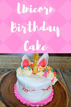 Unicorn Birthday Cake My daughter loves unicorns. Anything to do with unicorns really- rainbows, their horns, etc. So it was no surprise that she wanted a unicorn themed birthday this year. I made some cupcakes for her for …