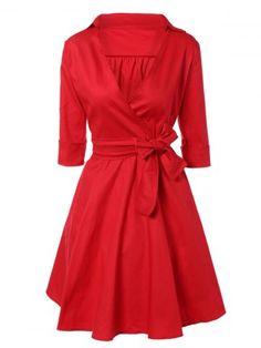 GET $50 NOW | Join RoseGal: Get YOUR $50 NOW!http://m.rosegal.com/vintage-dresses/vintage-3-4-sleeve-wrap-swing-670061.html?seid=6vujeh1nimrk9ll81u9g94ruf3rg670061