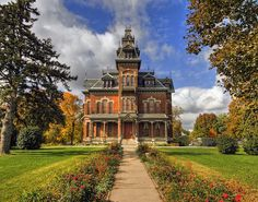 Vail Mansion / Independence, MO, USA. It's beautiful today but it was a nursing home for a while, my grandmother died there in 1976.