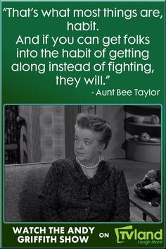 Aunt Bee knows just what advice to give to Andy when he must decide how to help a couples' marriage on the rocks. Hear more Aunt Bee wisdom during The Andy Griffith Show on TV Land! Best Advice Quotes, Life Advice, Good Advice, Some Good Thoughts, Barney Fife, The Andy Griffith Show, Family Feud, Old Shows, Tv Land