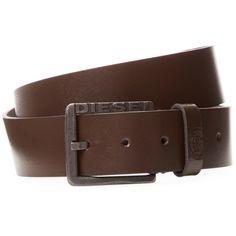 Diesel Men's Leather Belt - Brown, Size 100 (93 BRL) ❤ liked on Polyvore featuring men's fashion, men's accessories, men's belts, brown, mens belts, mens leather belts, mens brown belt and diesel mens belt