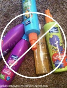 The BEST Homemade Hair Detangler Spray...need to do this for Isabelle's hair!!