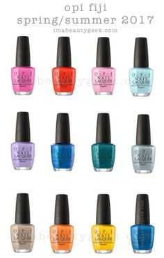 OPI Fiji 2017 Spring/Summer Collection
