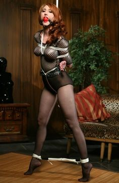 Corset Bondage tied cleavage fetish pvc