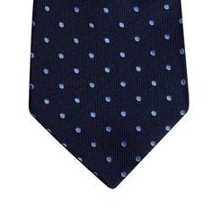 Hammond & Co. by Patrick Grant Designer navy polka dot silk tie- at Debenhams.com