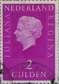 Dutch stamp with former Queen Juliana (ruled from 1948 - 1980).