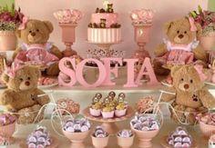 chá de bebê decoração para menina