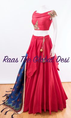 Color : redFabric : silkOccasion : WeddingOccasion : PartyWork : zari skirt length is 42 inches approx For any query CALL : 630 407 7419 Half Saree Lehenga, Lehnga Dress, Lehenga Gown, Anarkali, Lehenga Blouse, Bandhani Dress, Floral Lehenga, Sarees, Choli Designs