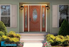 Looking to boost your homes curb appeal? A new entry door is just one of the ways you can enhance the look of your home. You can change out just the door, add a single sidelite or go for a true statement by adding matching sidelite's as shown here.