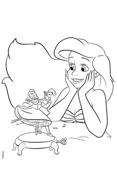 Mermaid Coloring Pages The Little Ariel Ma Petite Crayon Art Mermaids Find This Pin And More