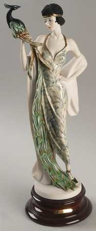 Giuseppe Armani figurine, Lady with Peacock