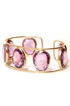 Adelline Roussel - Gold bracelet with amethysts.