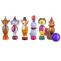 Fun Wooden Circus Skittles - perfect gifts for 2 year olds