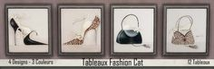 FASHION CAT paintings by loliam at Sims Artists • Sims 4 Updates