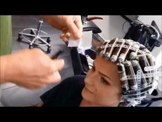 Perm 2.0 A 18 years old girl enjoying her first perm by JÖRG MENGEL FRISEURE - YouTube