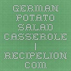 German Potato Salad Casserole | RecipeLion.com