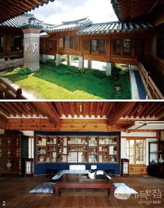 Wish I could find a better pic.I would really love a hanok style house (like in Moorim school) that's open to nature. Either way is pretty though Architecture Design, Asian Architecture, Home Interior, Interior And Exterior, Future House, My House, Moorim School, Dojo, Home Upgrades