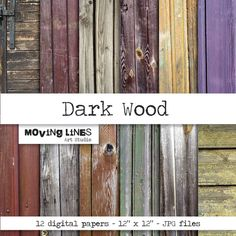 Wood Background Digital Papers for Print and Web 12 by MovingLines, $3.90