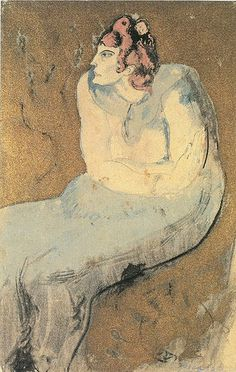 Pablo Picasso - Sitting Woman, 1903