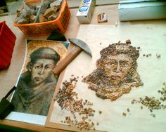 Old school: making marble mosaic from Francesco di Asissi