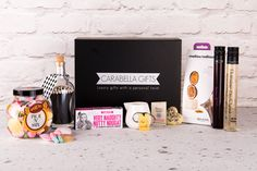 A Hamper of indulgence. Send this fun and indulgent hamper filled with an aromatherapy bath melt and oil, stylish glass of matches and a selection of artisan sweet treats. Luxury Hampers, Luxury Gifts, Inspirational Gifts, Aromatherapy, Sweet Treats, Artisan, Bath, Oil, Stylish
