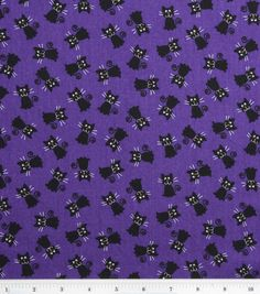 Halloween Spooky Prints Fabric-Black Cats