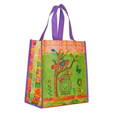Express your faith with gifts such as this Tote Birds May your Day be Blessed, only at Christian Art Gifts. Christian Art Gifts, Orange Design, Walk By Faith, Green Backgrounds, Gifts For Mom, Shopping Bag, Blessed, Reusable Tote Bags, Purple
